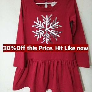 Gymboree Christmas Dress w/sequins